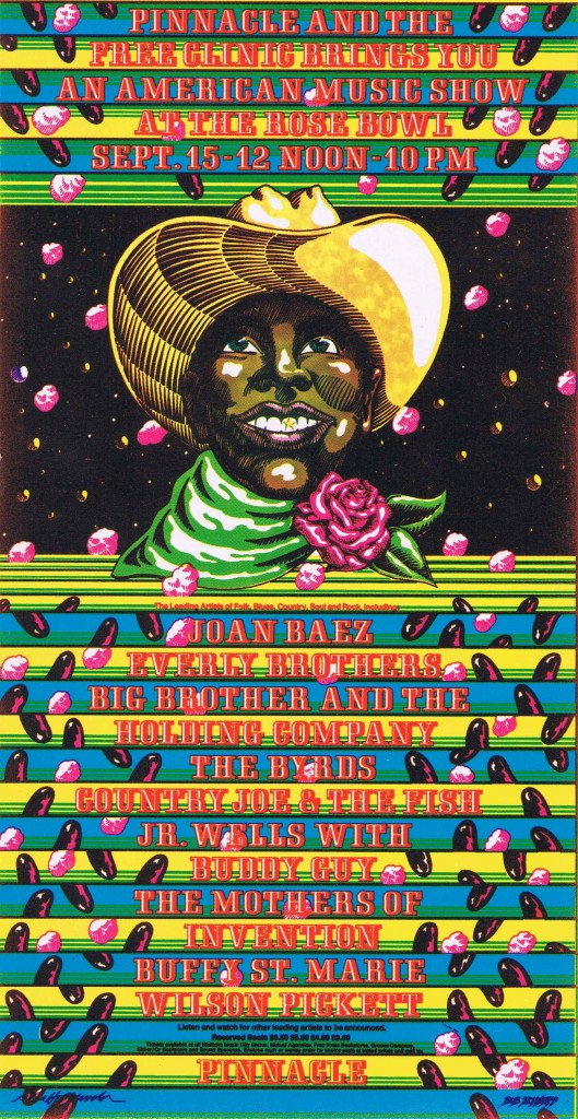 Rose Bowl Rock Poster