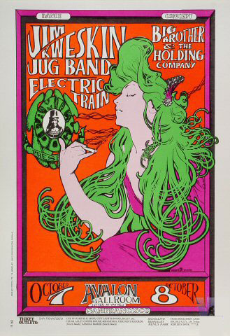 Famous Rock Posters - Jim Kweskin Jug Band - Big Brother & The Holding Co.